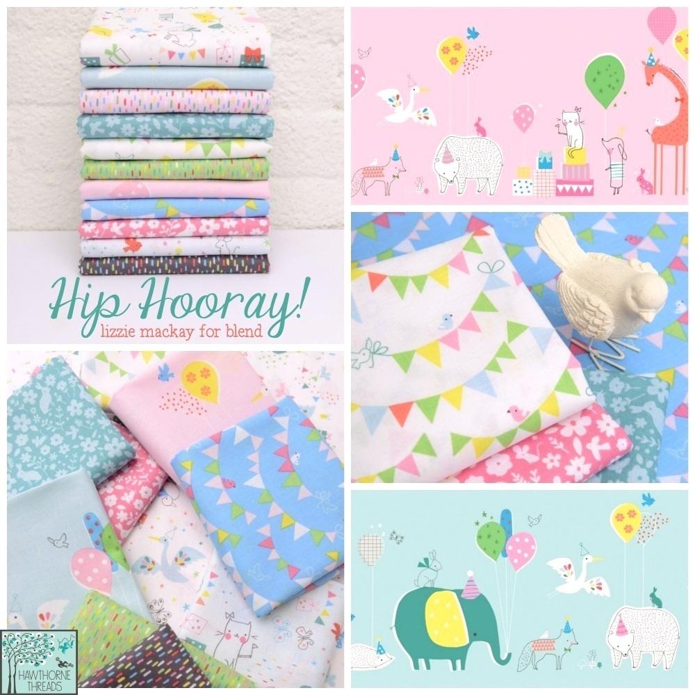Hip Hooray Fabric Poster