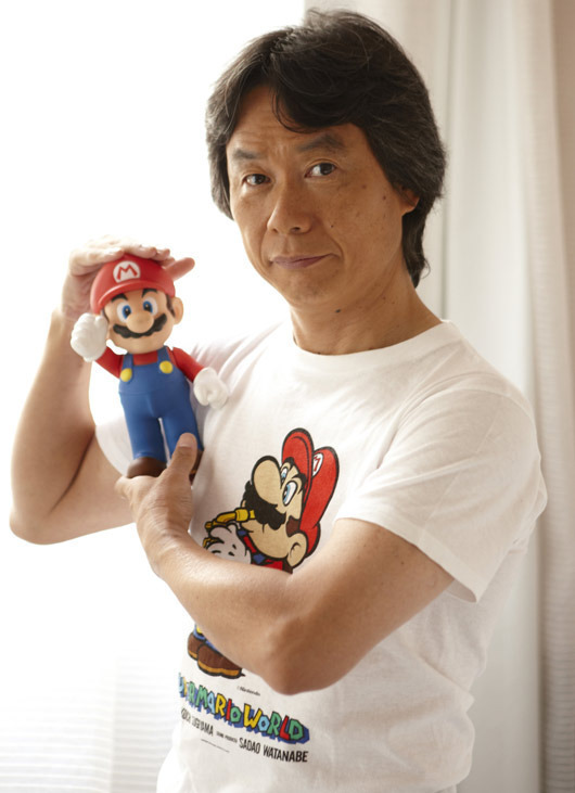 Miyamoto and Mario Figurine