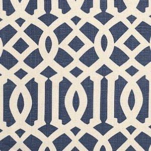 Schumacher-imperial-trellis-ivory-navy-fabric