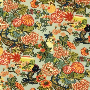 Schumacher-chiang-mai-dragon-aquamarine-fabric