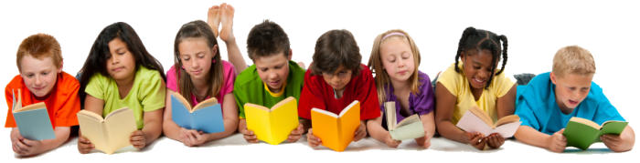 Image result for kids reading books png