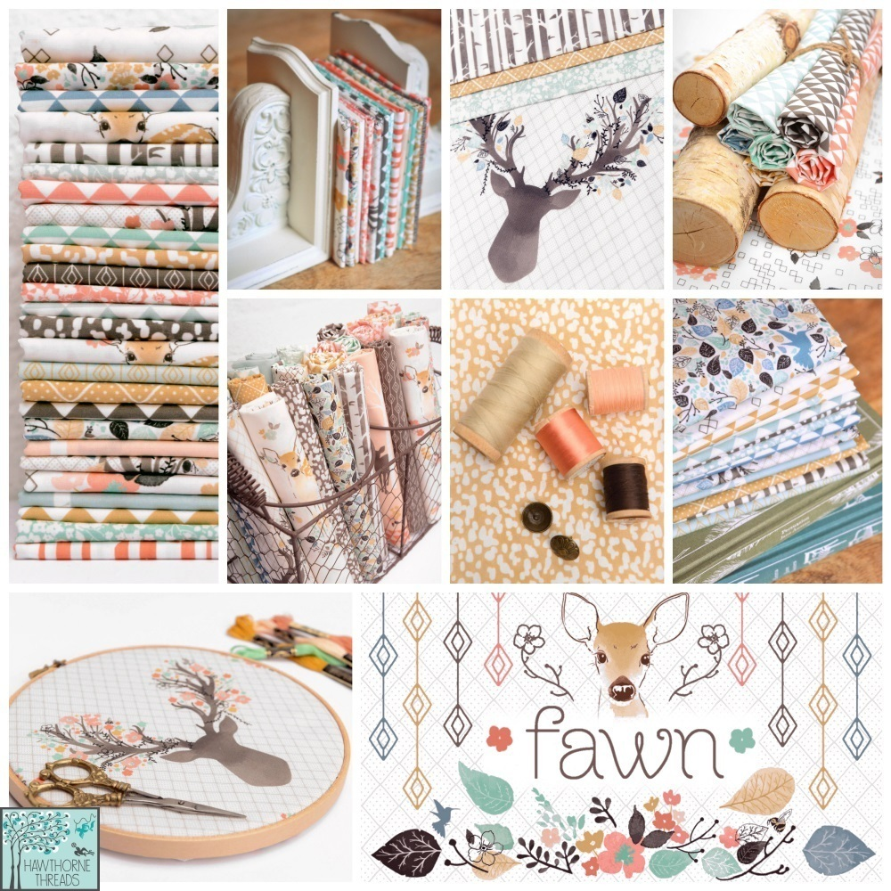 Fawn Fabric Poster Hawthorne Threads