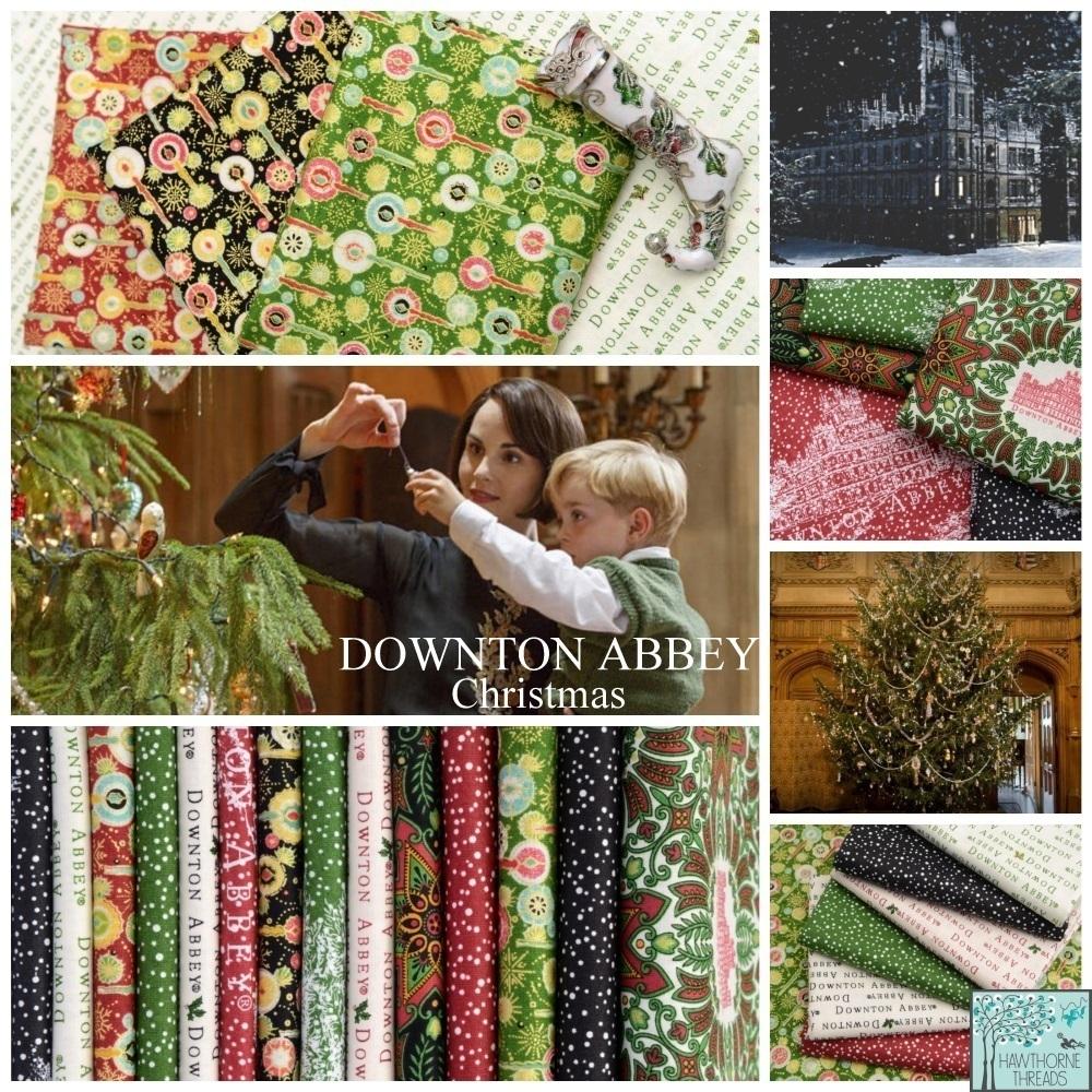 Downton Abbey Christmas Fabric