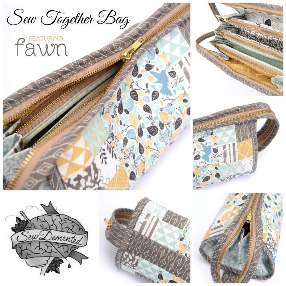 Sew Together Bag Pattern featuring Fawn