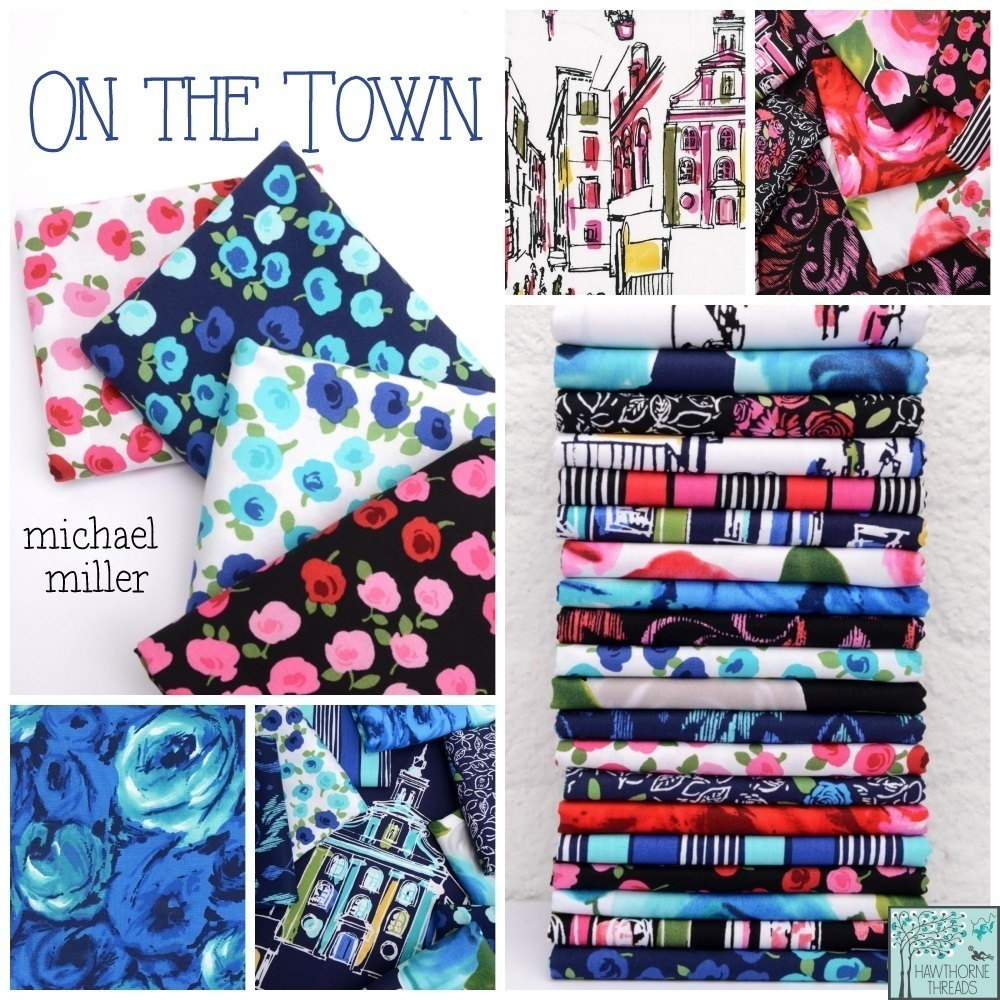 On the Town Fabric Poster