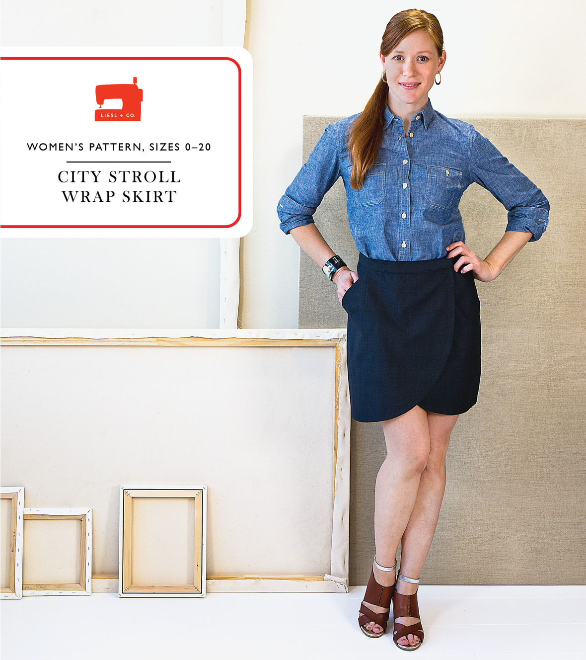 liesl and co  city stroll wrap skirt sewing pattern