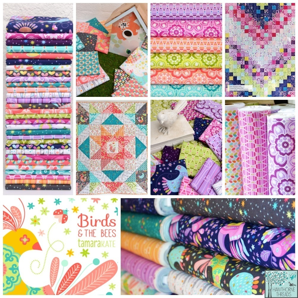 Birds and the Bees Fabric Poster