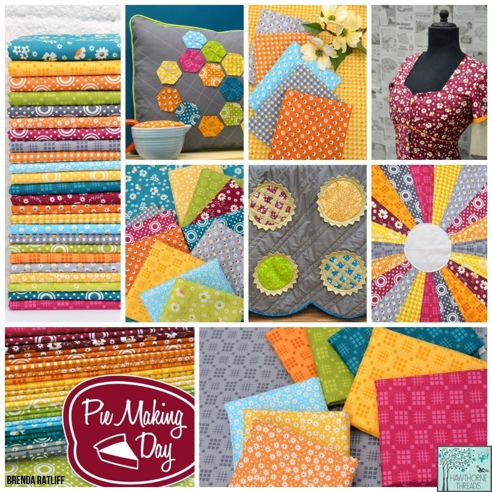 Pie Making Day Fabric Poster