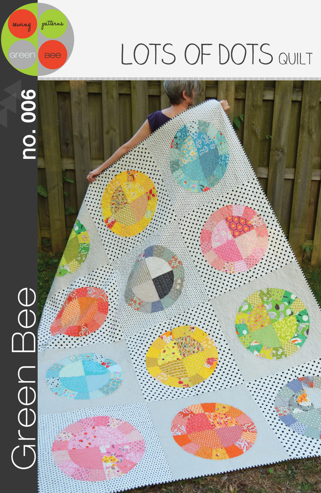 green bee design lots of dots quilt sewing pattern