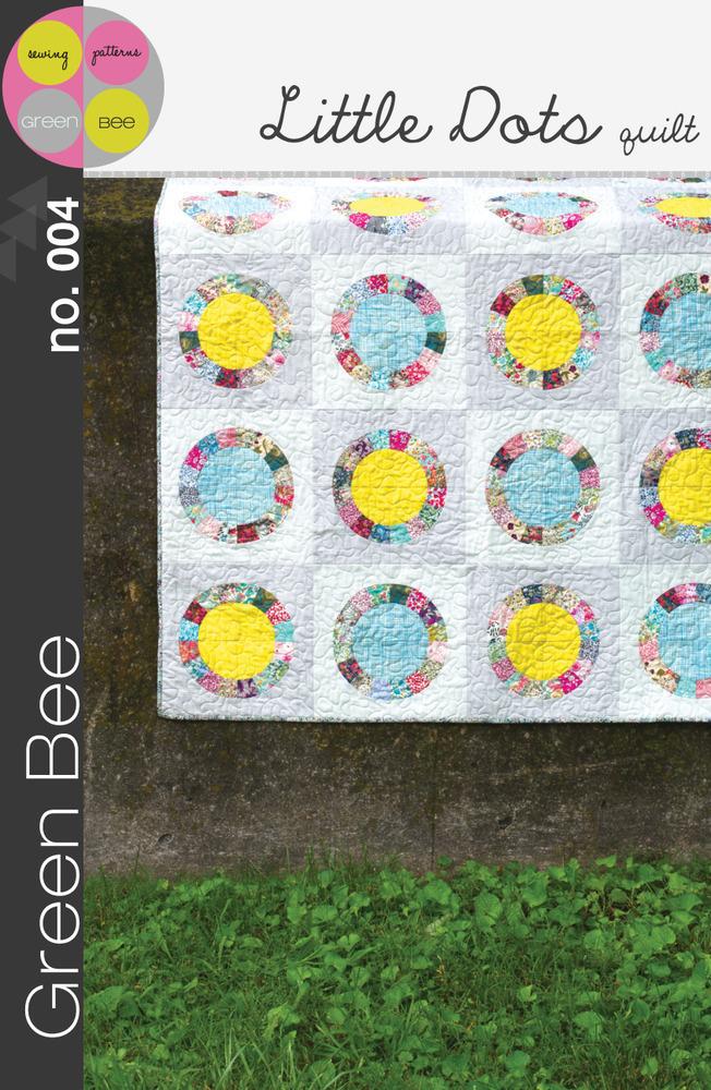 green bee design little dots quilt sewing pattern