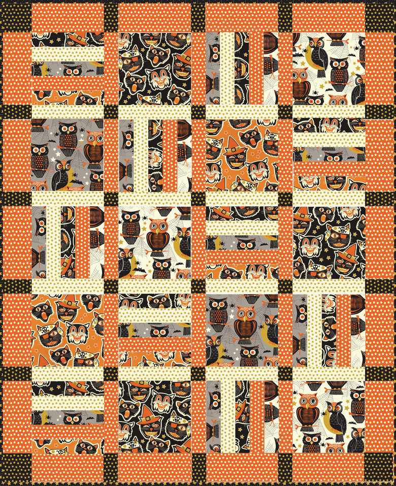 Spooktacular eve twilight free quilt from blend fabrics