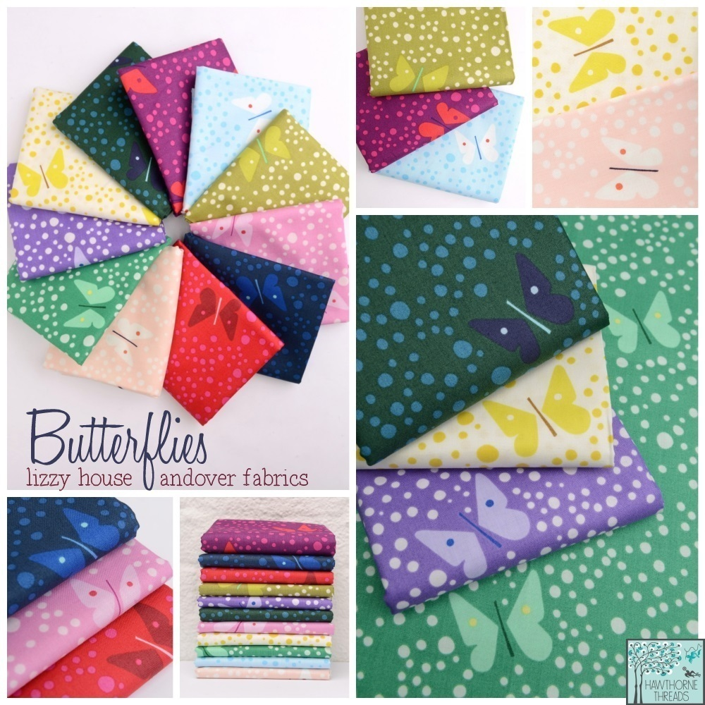 Lizzie House Butterflies Fabric Poster