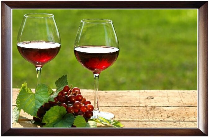 framed-wine in glass