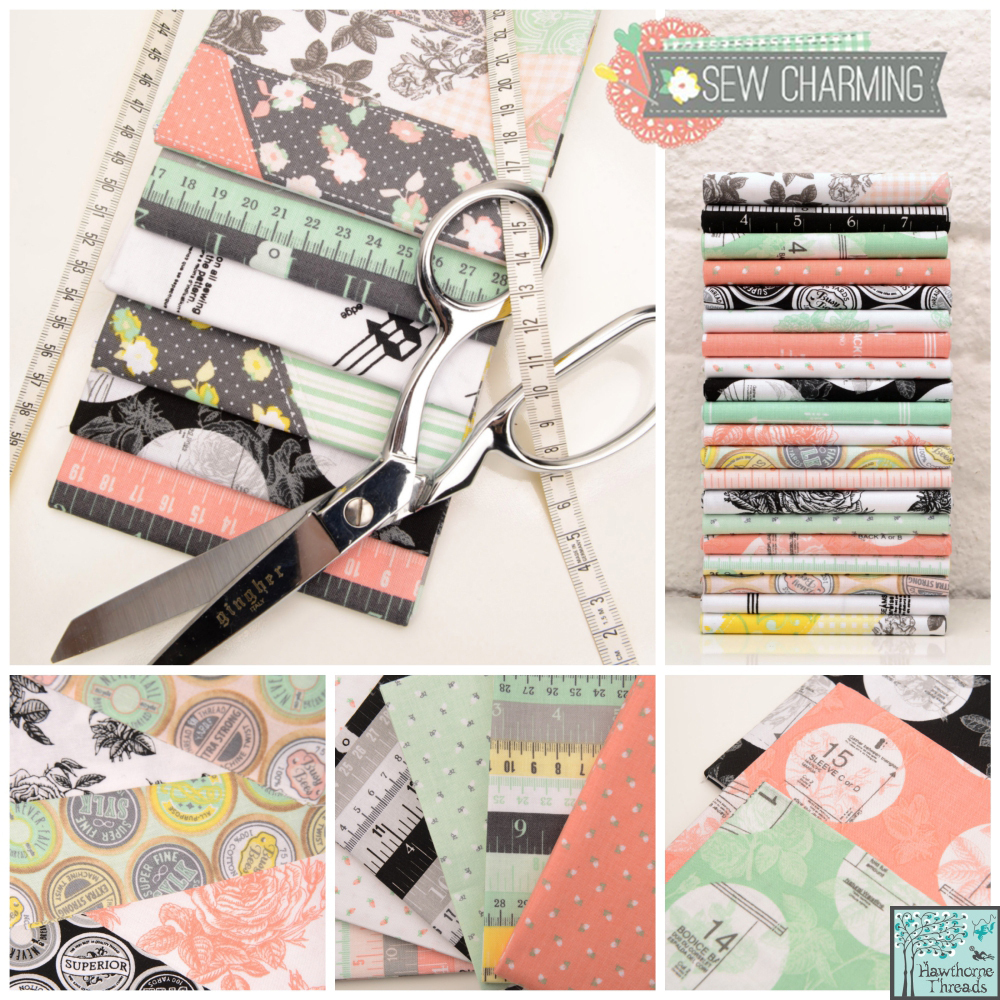 Sew Charming Fabric poster