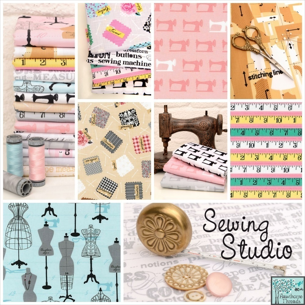 Sewing Studio Fabric Poster