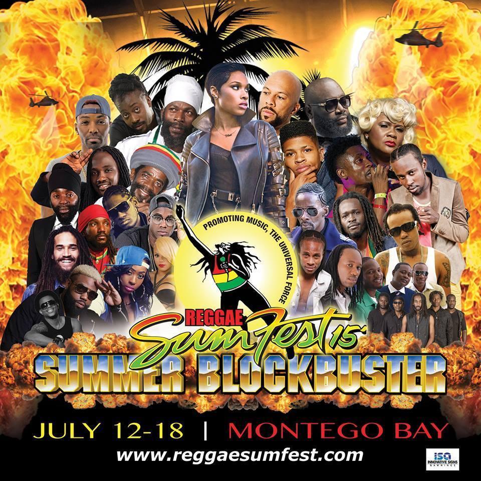 REGGAE SUMFEST COMES TO MONTEGO BAY, JULY 12-18!