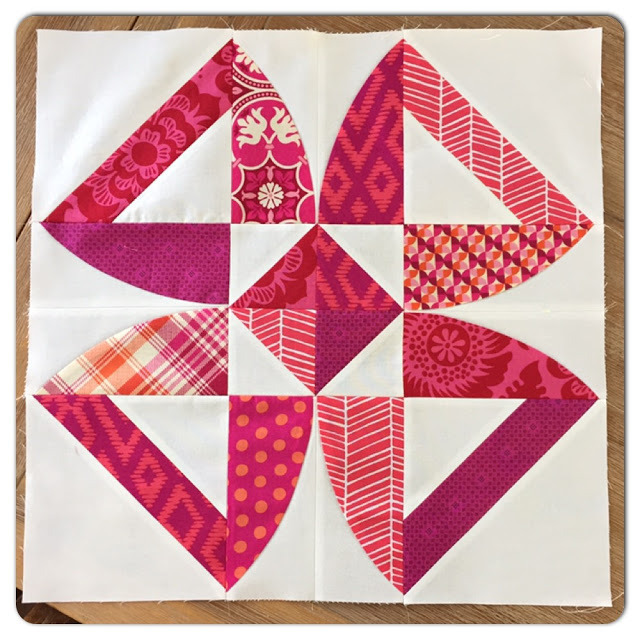 twisted blossom quilt along