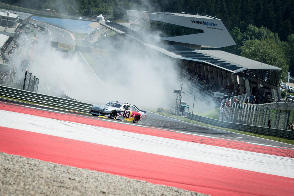 Spielberg ADAC GT MASTERS 2015 NasCar Showrun  Stefan Leitner Red Bull ...