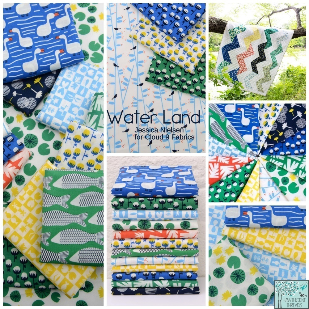 Water Land Fabric Poster