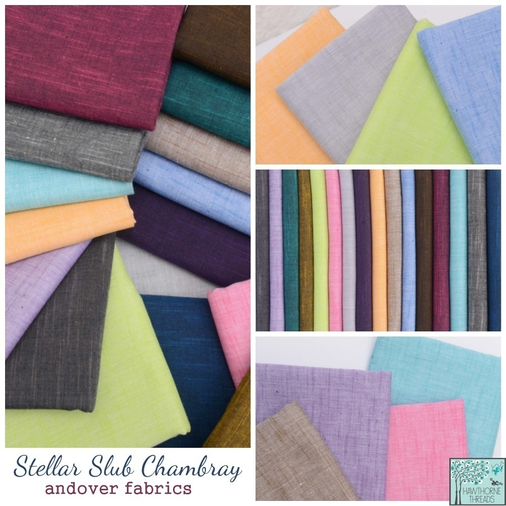 Andover Slub Chambray Fabric Poster
