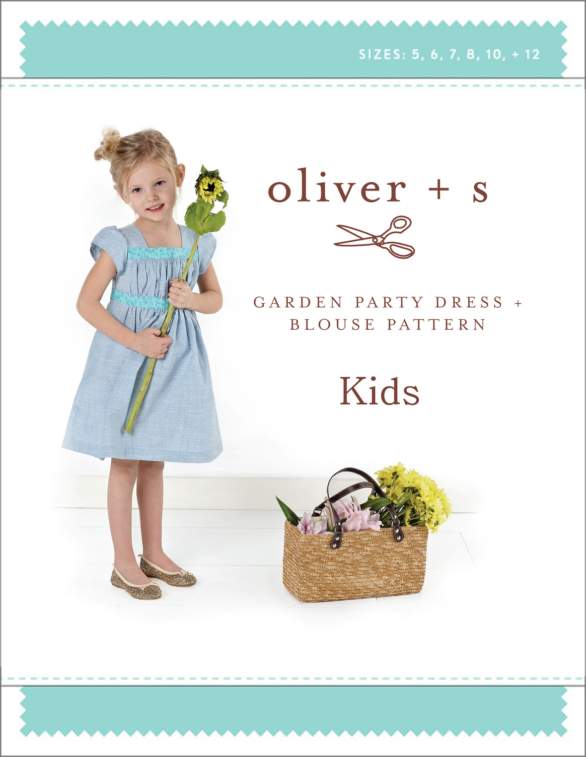 oliver and s  kids garden party dress and blouse sewing pattern