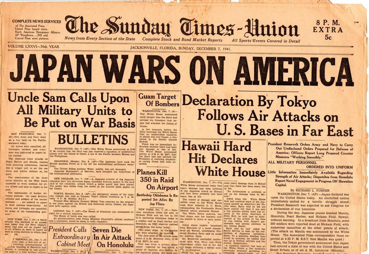 WWII newspaper