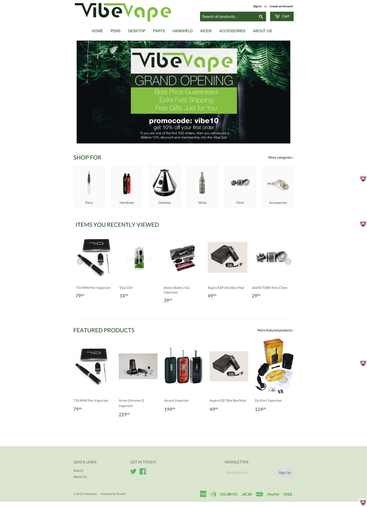 vibevapes-homepage