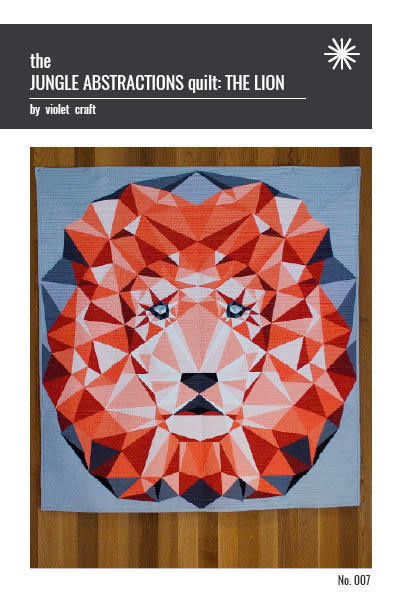 violet craft jungle abstractions the lion sewing pattern