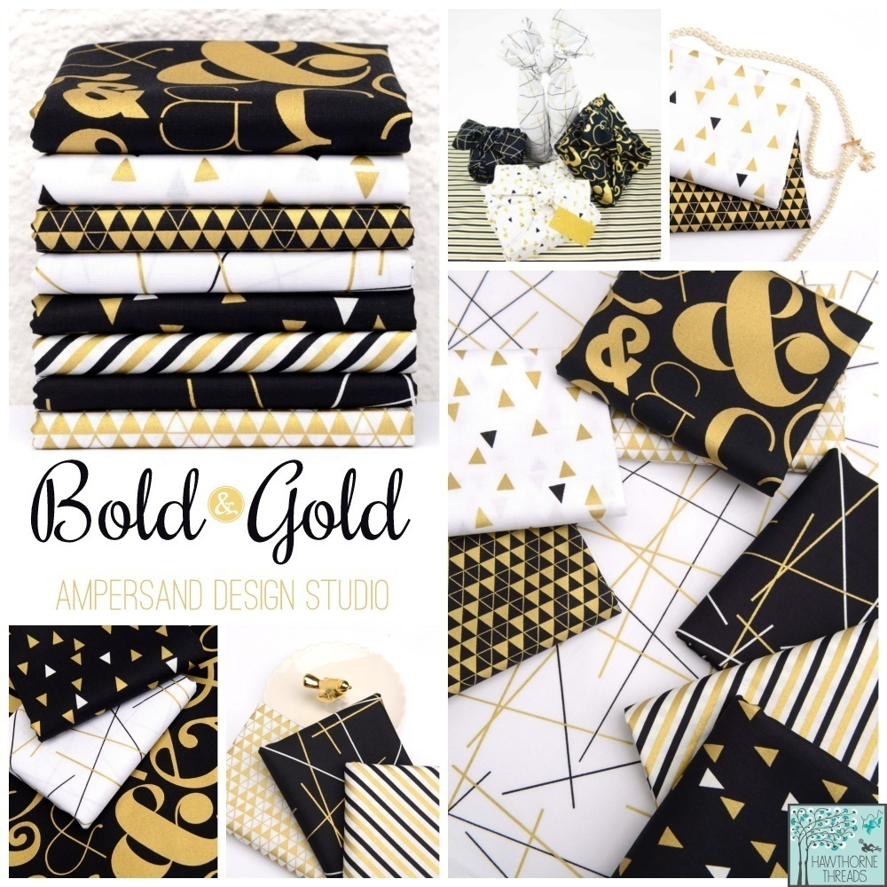 Bold and Gold  Fabric Poster