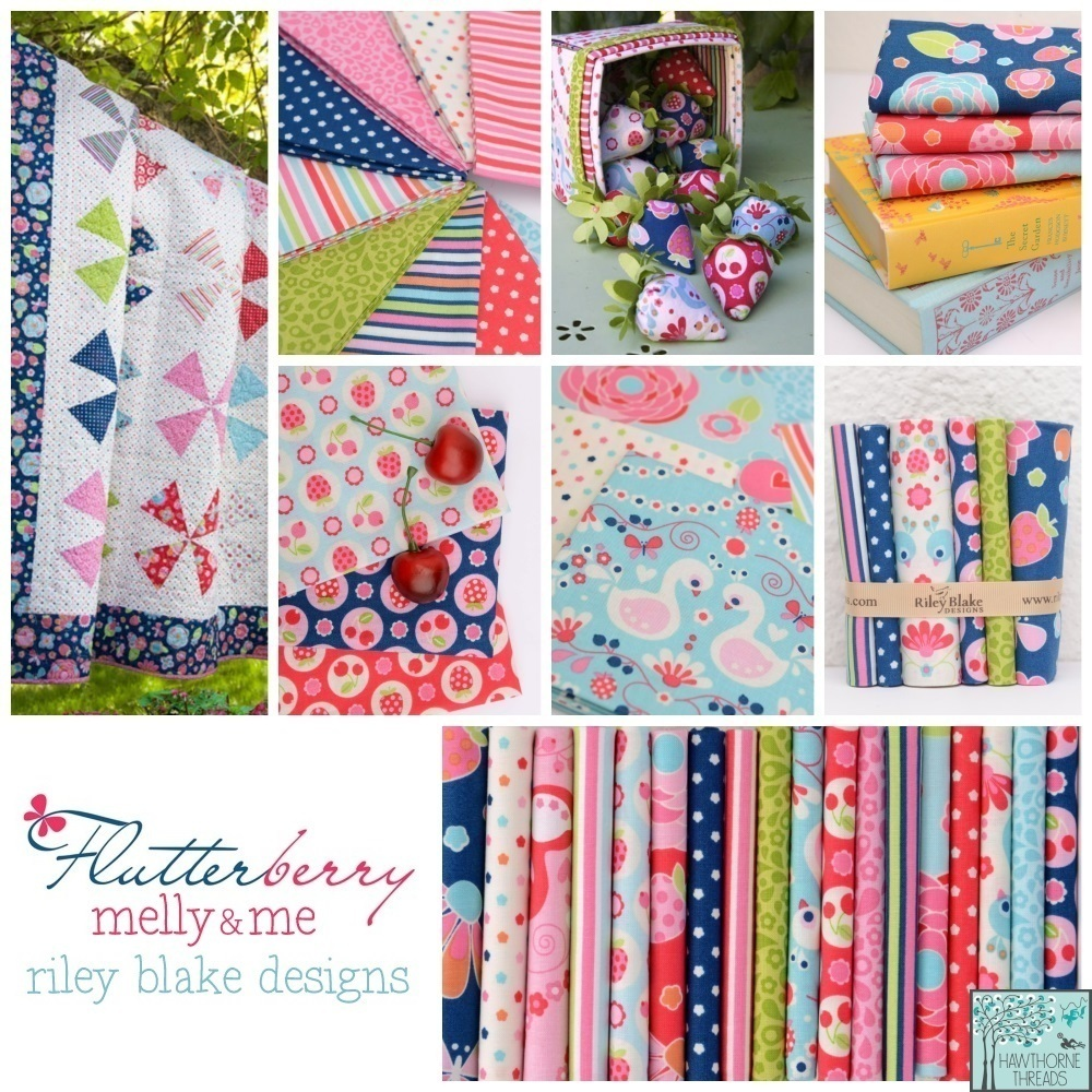 Flutterberry Fabric Poster