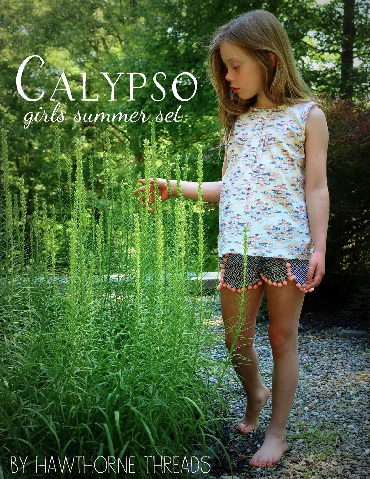 Hawthorne Therads Calypso Fabric Top and Shorts