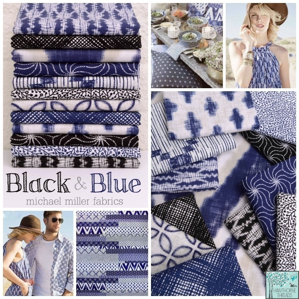 Black and Blue Fabric Poster