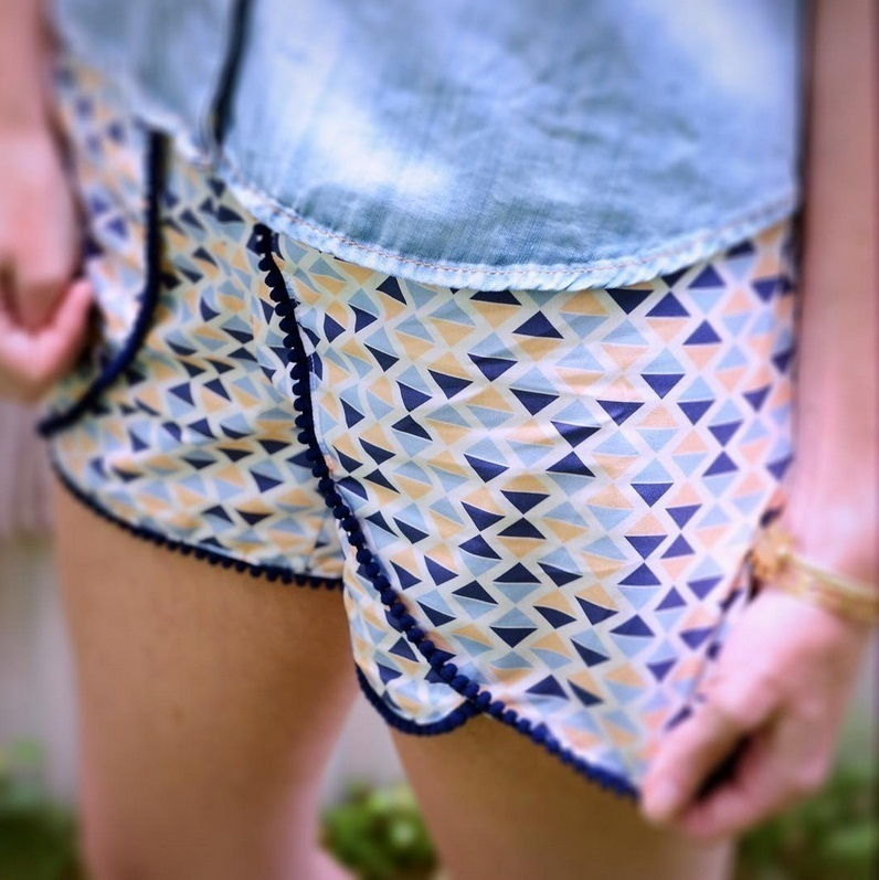 Calypso Fabric Coachella Shorts