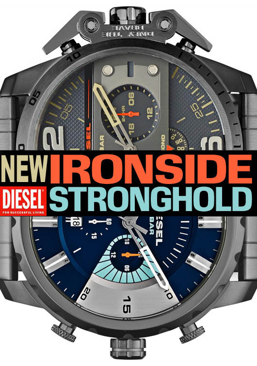 Watchismo times new diesel ironside and stronghold watches for Watchismo