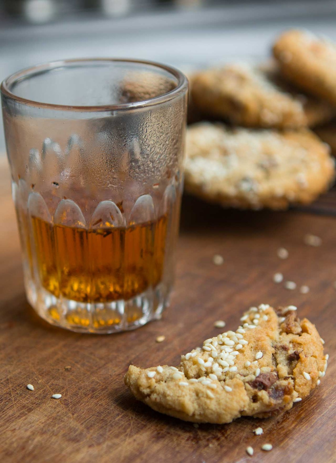 Fig tahini chocolate chip cookies cookie recipe-15