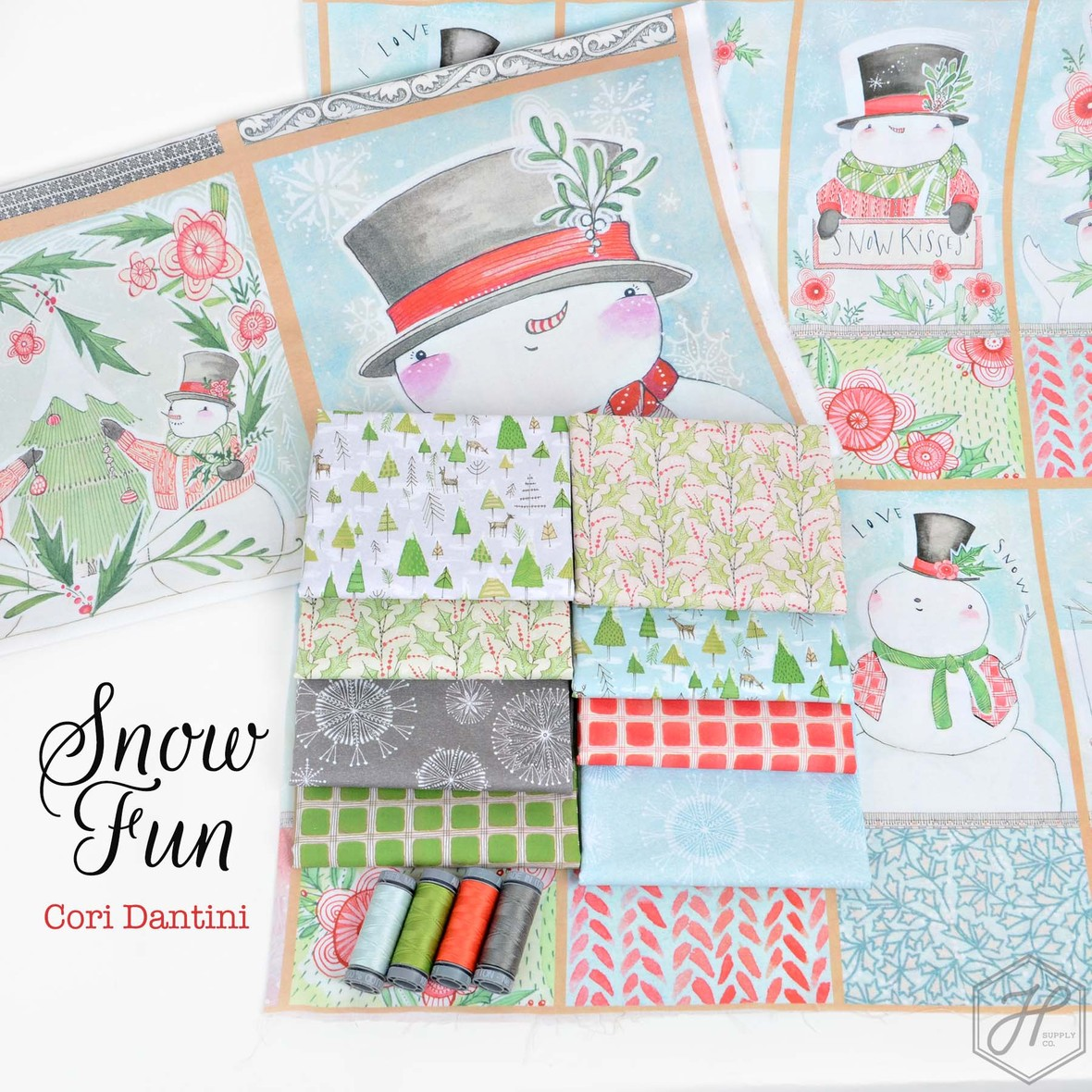 Snow Fun Fabric Poster Cori Dantini for Blend at Hawthorne Supply Co