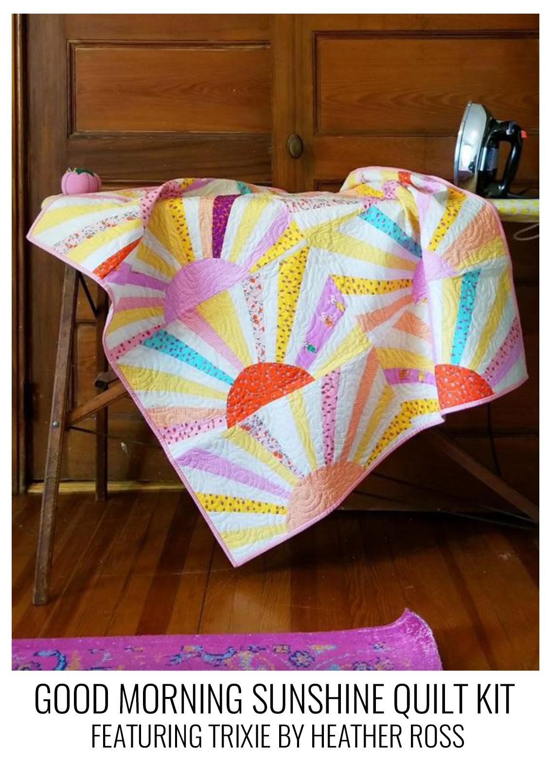 good morning sunshine- trixie quilt kit