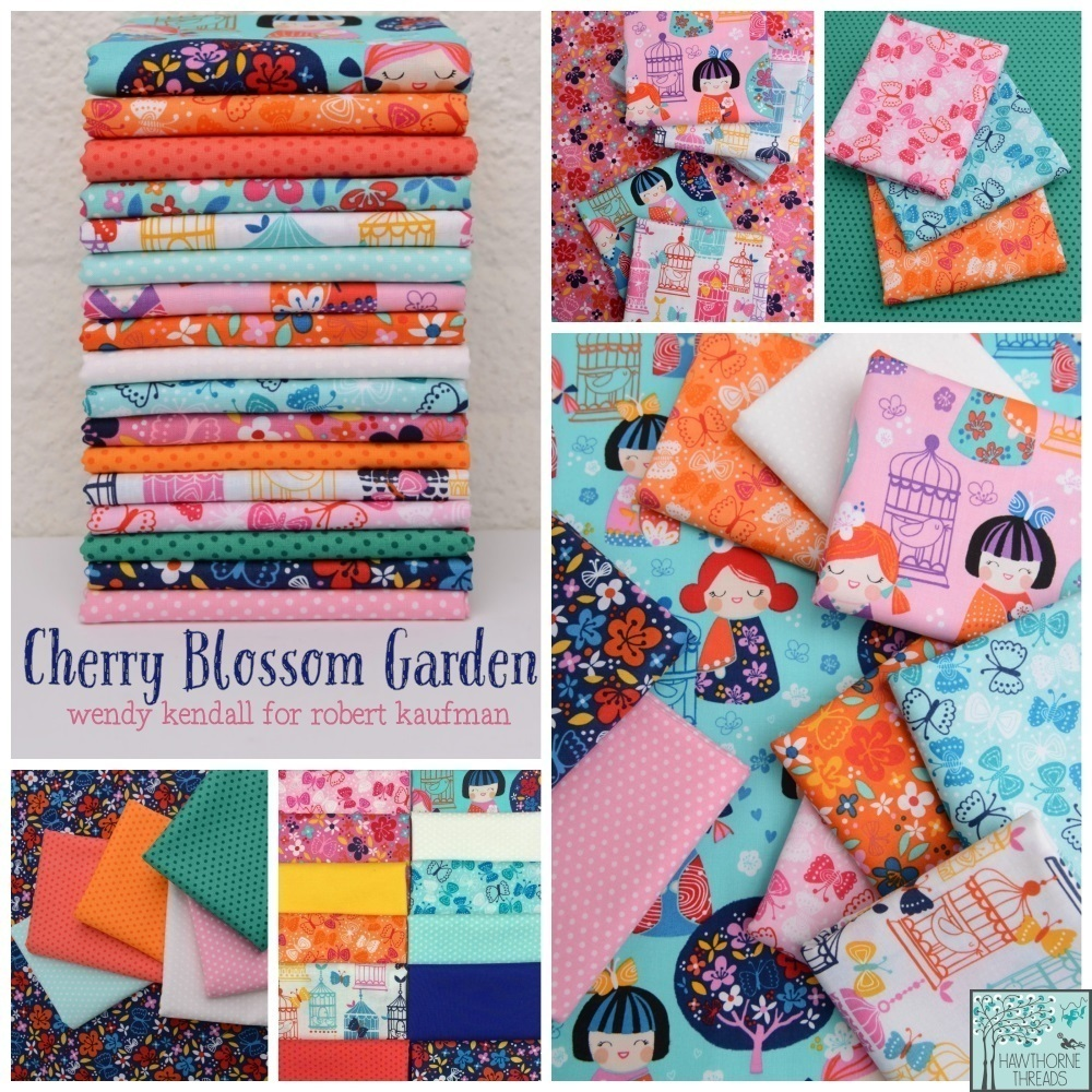Cherry Blossom Garden Fabric Poster