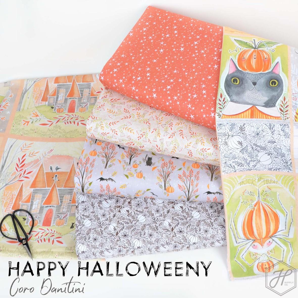 Happy Halloweeny Fabric Cori Dantini for Blend at Hawthorne Supply Co