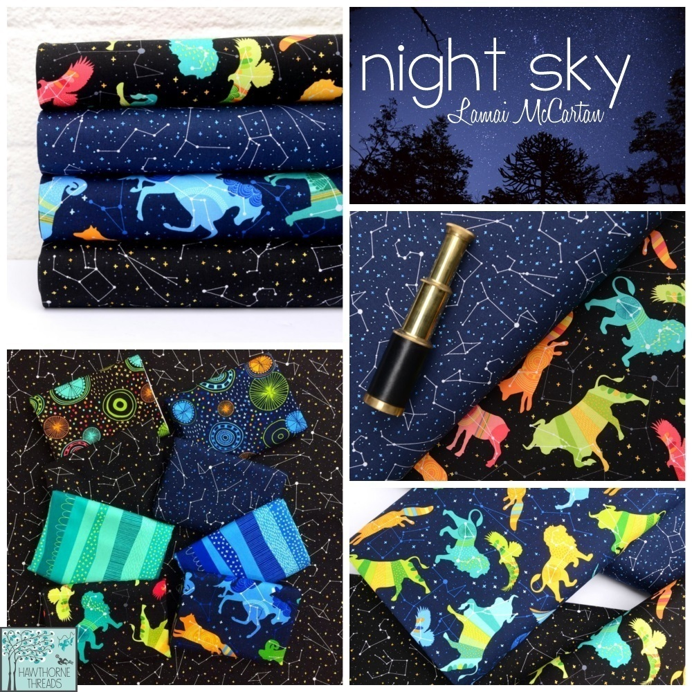 Our weekly newsletter hawthorne threads blog for Night sky print fabric