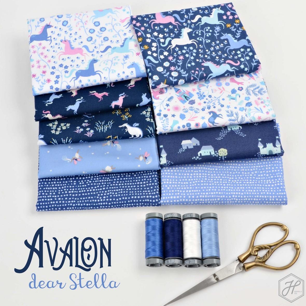 Avalon Fabric Poster Dear Stella Unicorns Hawthorne Supply Co