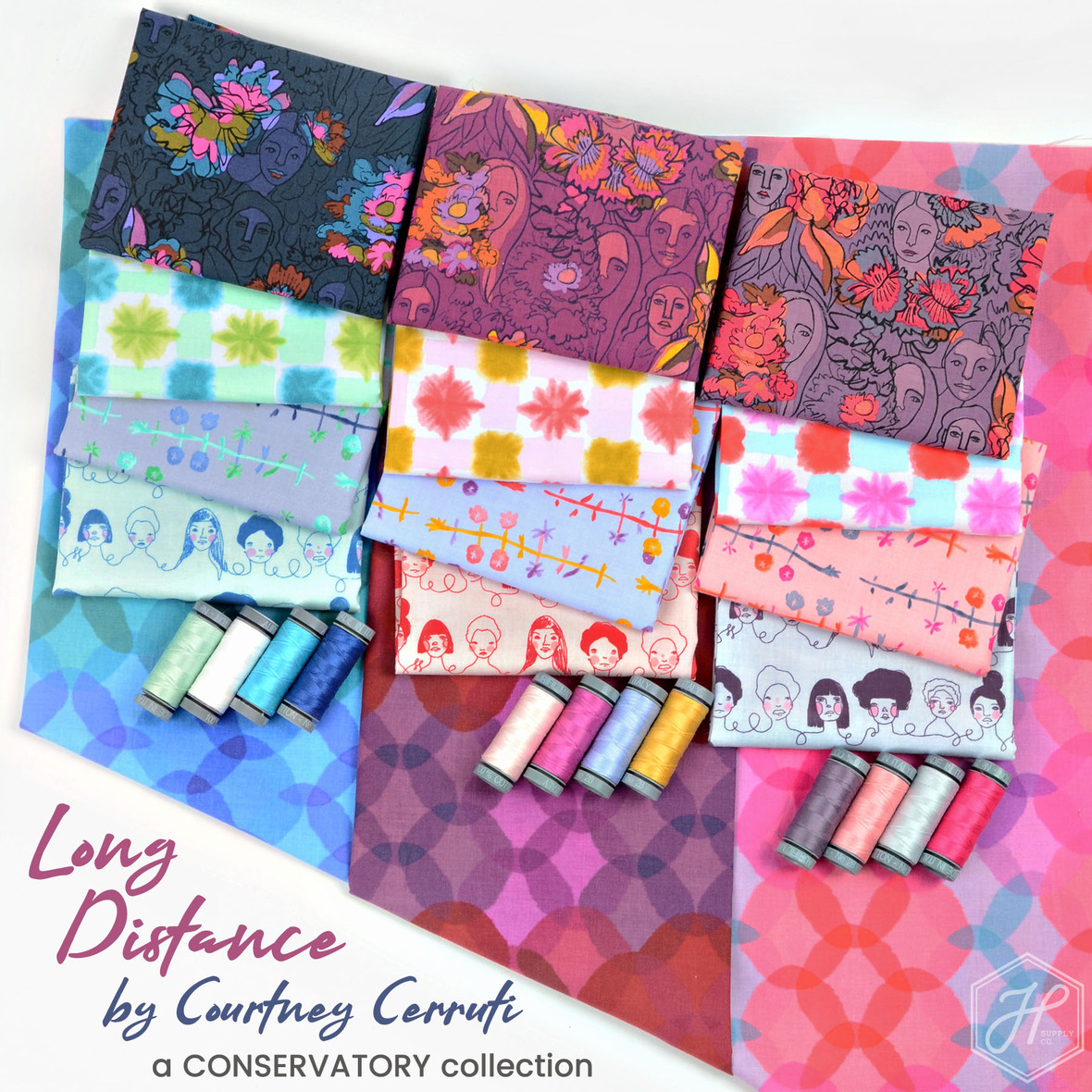 Long Distance fabric Courtney Cerruti for Conservatory at Hawthorne Supply Co