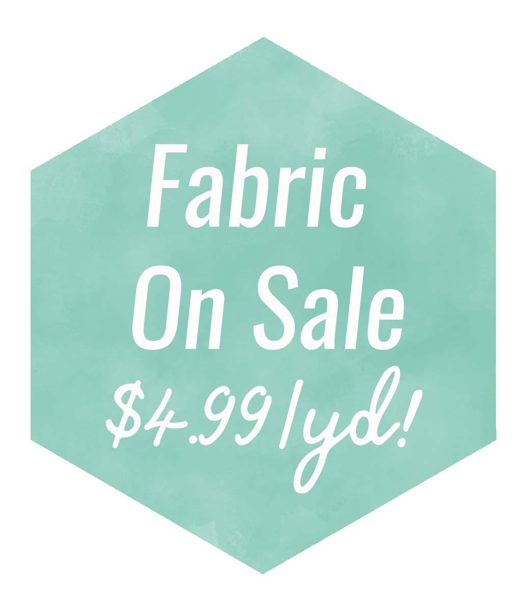 2 Fabric Sale Watercolor Hexi