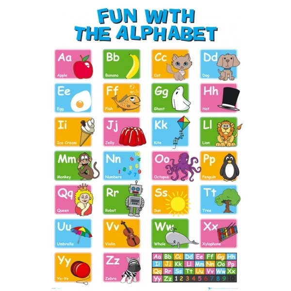 educational alphabet maxi poster raw
