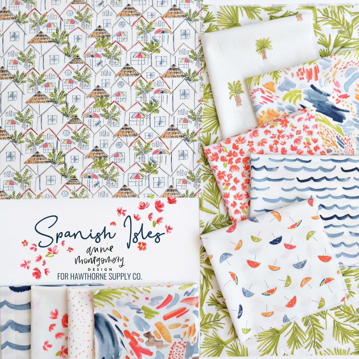 Spanish Isles Fabric Annie Montgomery at Hawthorne Supply Co.