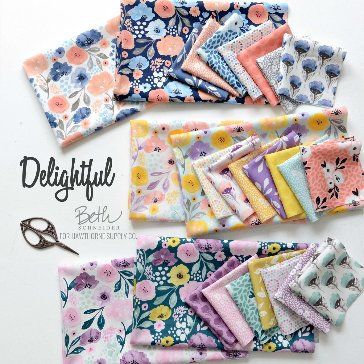 Delightful Fabric Poster 2 Beth Schneider Designs for Hawthorne Supply Co