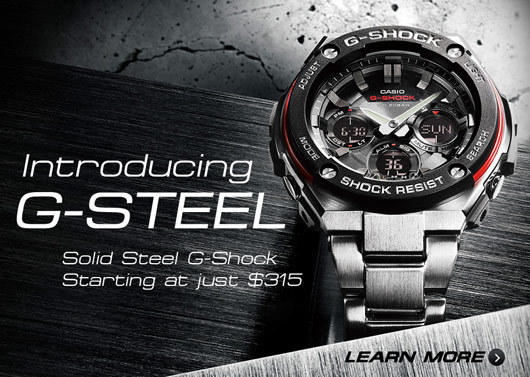 Price-Shock Resistant New G-STEEL Watches - Affordable New Stainless ... f7799a4cc410