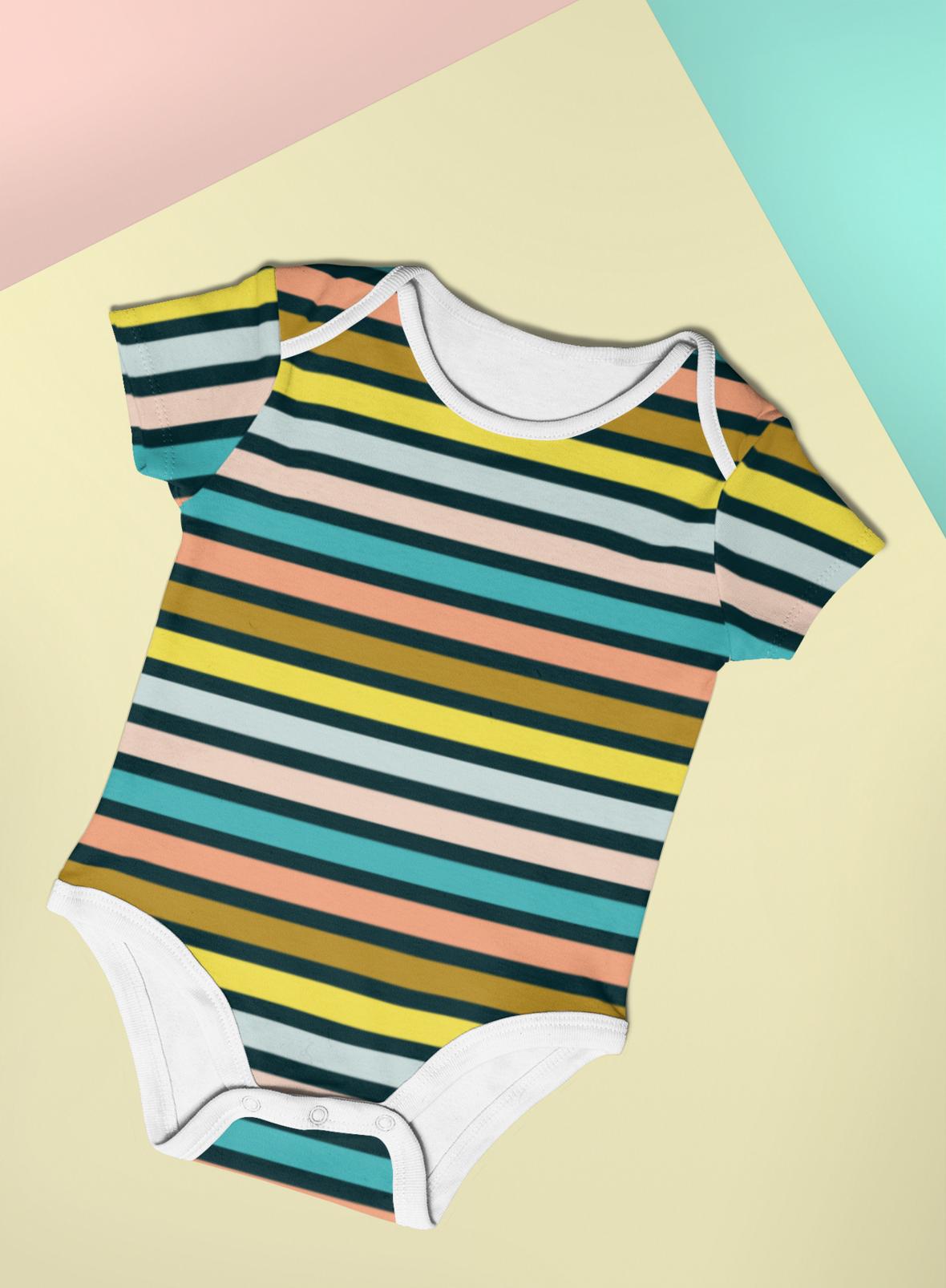 onesie big rainbow stripe