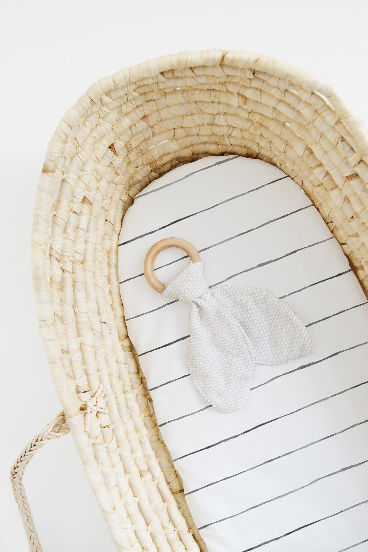 Large Pinstripe in White