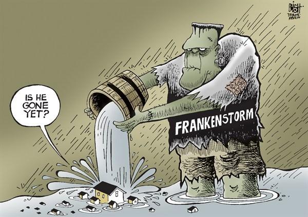 halloween flood cartoon